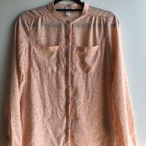Pastel pink cheetah print blouse